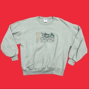 90s Up North Embroidered Crewneck Sweater Size XL